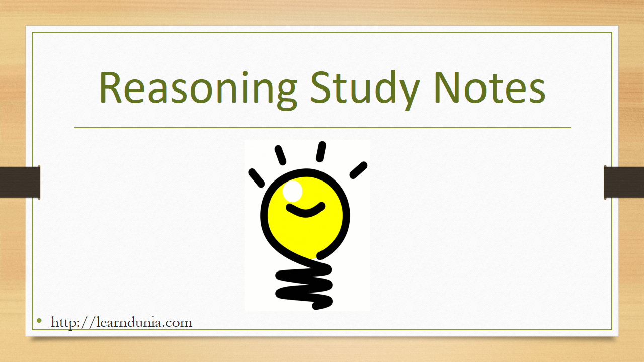 Reasoning Study Notes