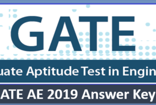 GATE AE Answer Key