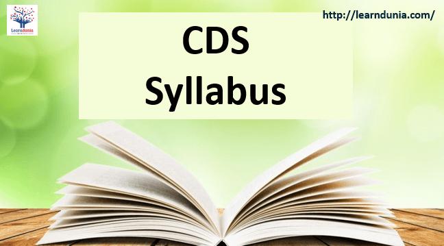 Download CDS Syllabus 2019 for English, Maths & General