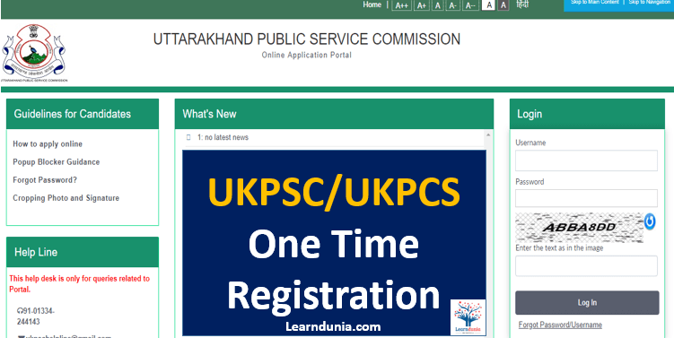 UKPCS One time registration