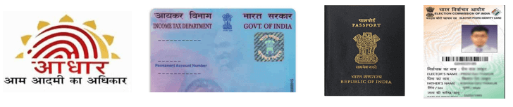 Documents required with Admit Card