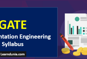 GATE Instrumentation Engineering Syllabus (IN)