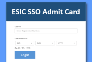 ESIC SSO Admit Card