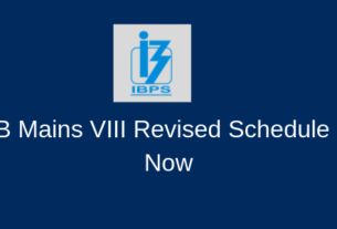 IBPS RRB Mains VIII Revised Schedule Released Now