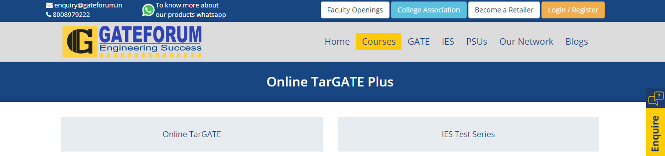 GATE Mock Tests by GATE Forum