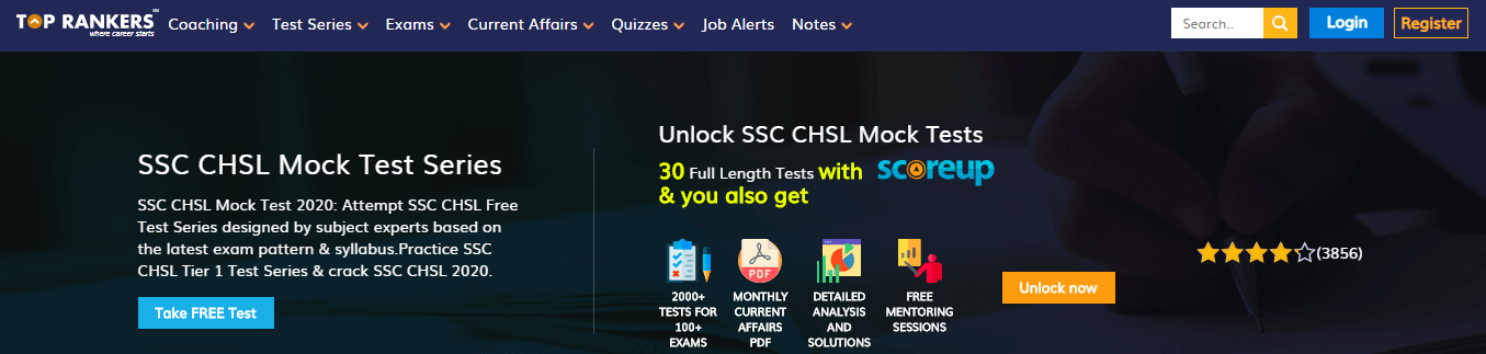 SSC CHSL Mock Tests by Top Rankers