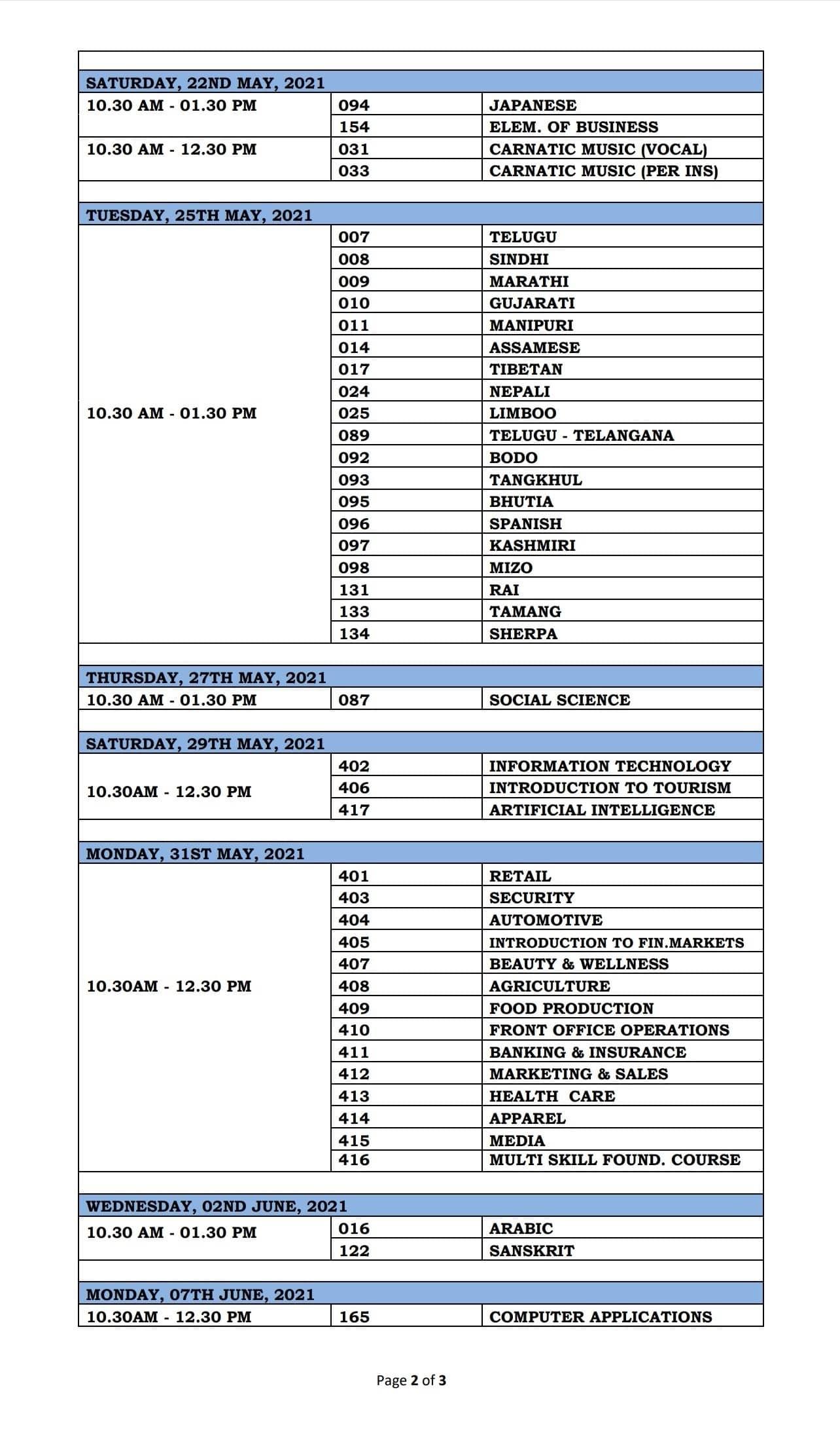 CBSE Class 10 Board exam Date