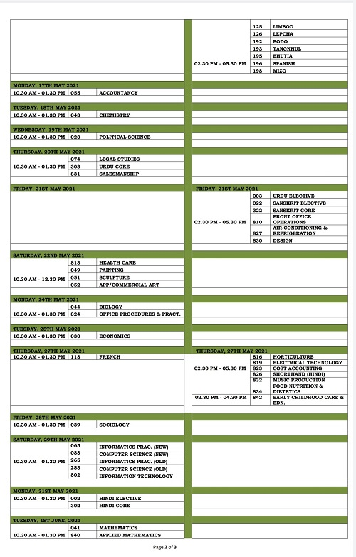CBSE Class 12 Exam date