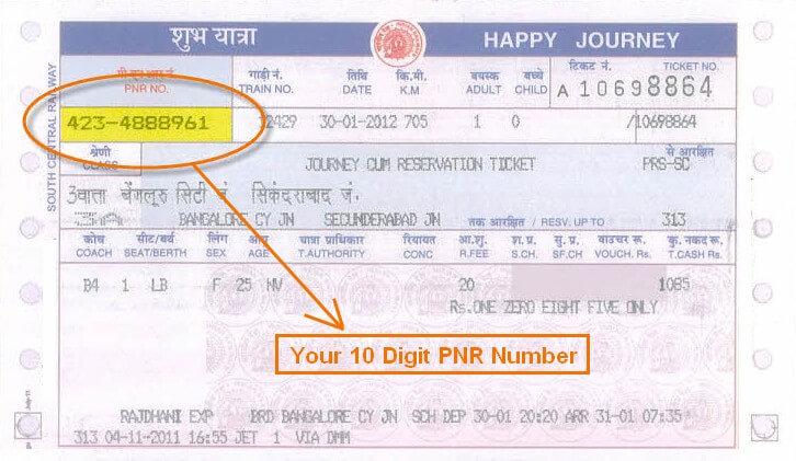 PNR Number